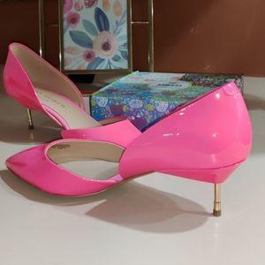 Kurt Geiger Bond 60 Pink Patent Kitten Heels